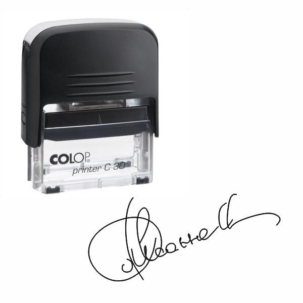 Факсимиле на автоматической оснастке Colop